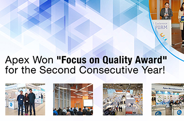"Apex Won ""Focus on Quality Award"" for the Second Consecutive Year!"